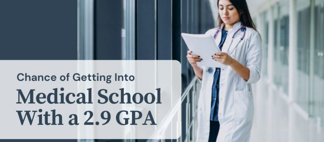 Chance of Getting Into Medical School With a 2.9 GPA