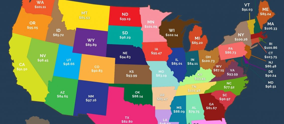 doctor's pay per hour by state